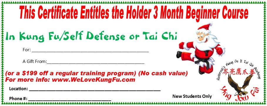 santa gift certificate